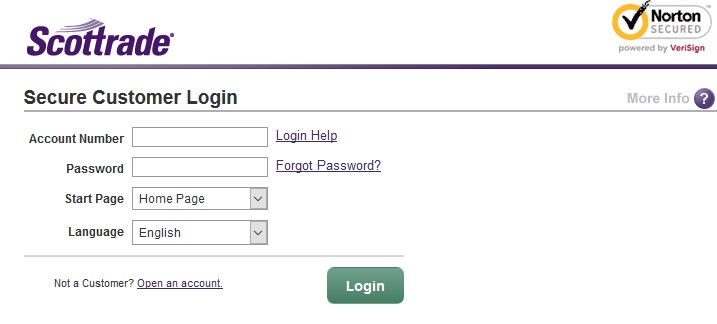 Scottrade Login PC